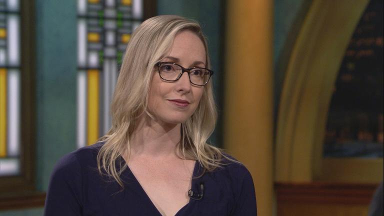 "Kathleen Belew appears on ""Chicago Tonight"" on May 2, 2019."