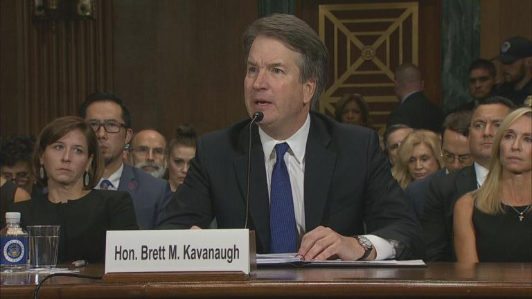 """My family and my name have been totally and permanently destroyed by vicious and false additional accusations,"" Judge Brett Kavanaugh said during a hearing on Thursday, Sept. 27, 2018."