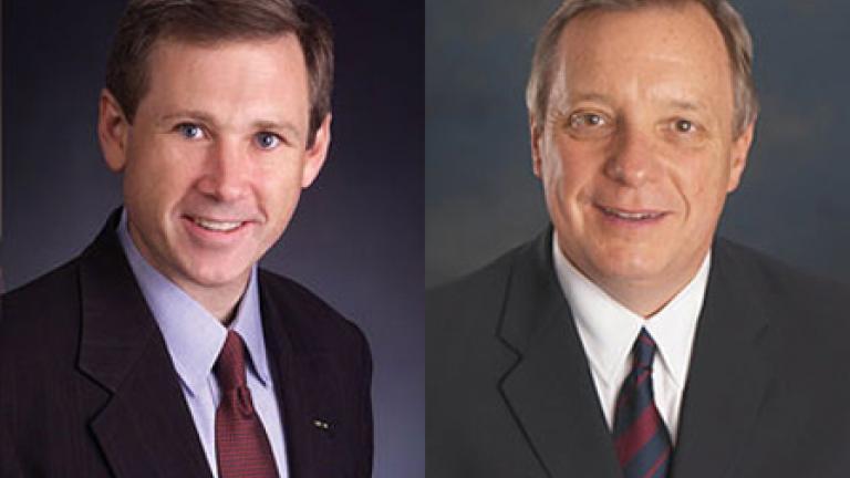Sen. Mark Kirk (left) and Sen. Dick Durbin (right)