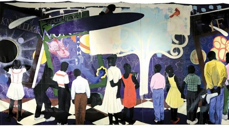 """Knowledge and Wonder"" by Kerry James Marshall (Chicago Public Library / Facebook)"