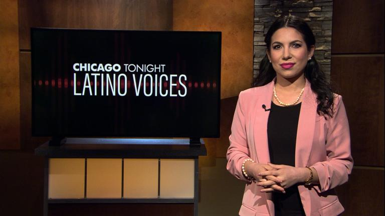 "Araceli Gómez-Aldana hosts ""Chicago Tonight: Latino Voices"" (WTTW News)"