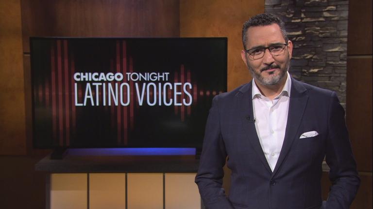 "Univisión's Alex Hernández guest hosts the 39th episode of ""Latino Voices."" (WTTW News)"