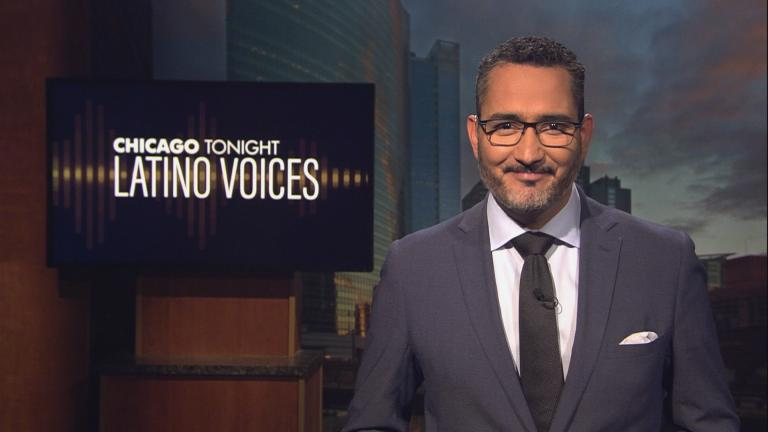 """Alex Hernández of Univision guest hosts the 46th episode of """"Latino Voices."""" (WTTW News)"""