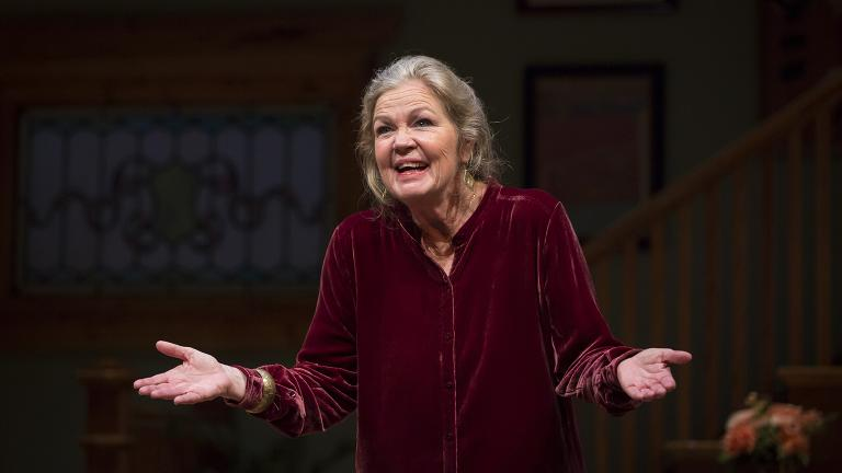 "Linda Gehringer as Helene in the world premiere production of ""Lady in Denmark"" at Goodman Theatre. (Credit: Liz Lauren)"