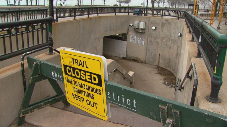 Chicago's lakefront trail has been closed since March 26. (WTTW News)