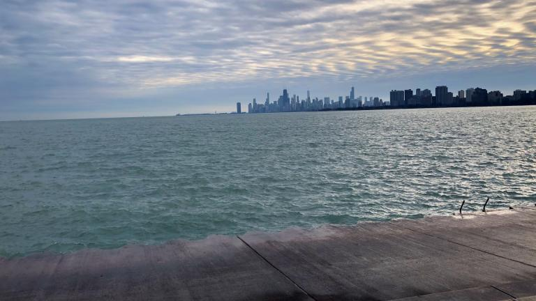 The view from Montrose Harbor is free, but soon the parking won't be. (Patty Wetli / WTTW News)