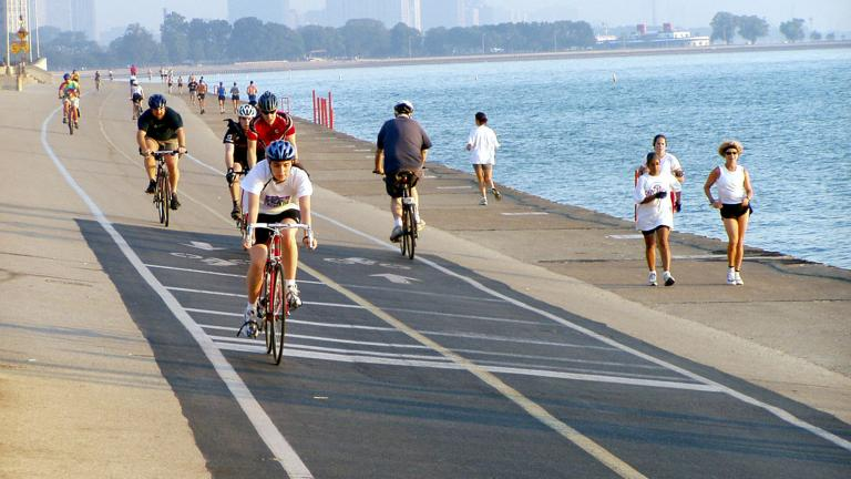 Thanks to a $12 million donation from Kenneth Griffin, the Chicago Lakefront Trail will be separated into two distinct paths for bicyclists and pedestrians. (Courtesy of the City of Chicago)