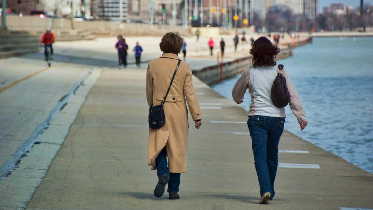 Mayor Lori Lightfoot shut down the lakefront, Riverwalk and The 606 trail on March 26 to curb the spread of COVID-19. (Eric Allix Rogers / Flickr)