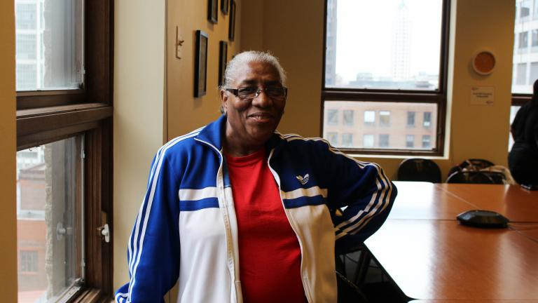 Laura Doss, 68, was homeless for 16 years. She recently graduated from a public speaking program. (Courtesy of Speak Up)