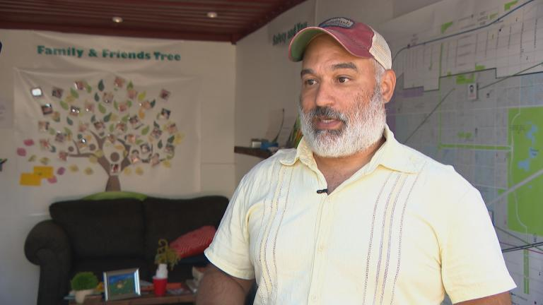 Jonathan Kelly, co-founder of the Lawndale Pop-Up Spot. (WTTW News)