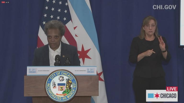 A screenshot from a May 29, 2020 livestream with Mayor Lori Lightfoot. (Chicago Mayor's Office)