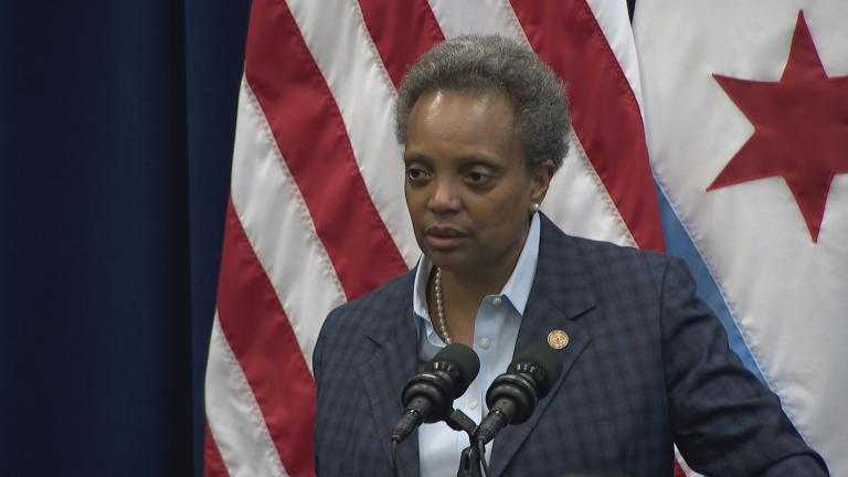 Chicago Mayor Lori Lightfoot responds to criticism from progressive groups on Wednesday, Nov. 20, 2019. (WTTW News)