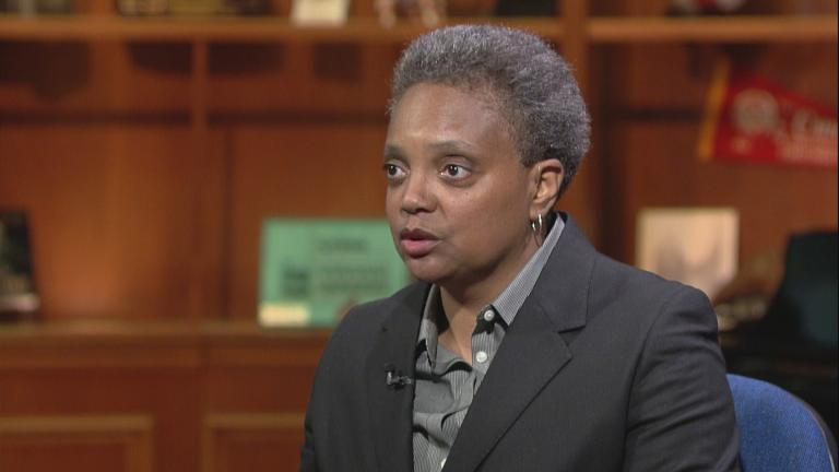 "Lori Lightfoot appears on ""Chicago Tonight"" on April 5, 2017."