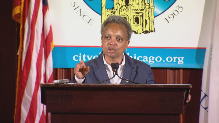 """Forty-three people were shot, and five died. So we can't claim victory, and we certainly can't celebrate,"" Mayor Lori Lightfoot said at a City Club of Chicago event on Tuesday, May 28, 2019."