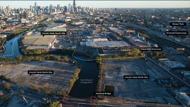 An artist's rendering of the Lincoln Yards master plan released in January 2019. (Courtesy Sterling Bay)
