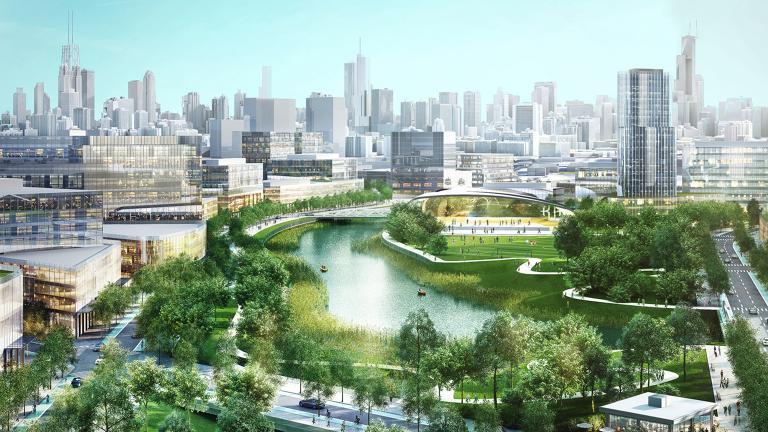 Lincoln Yards artist's rendering (Courtesy Sterling Bay)