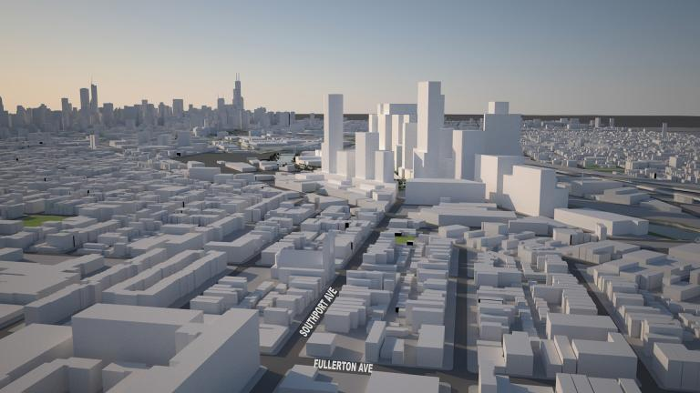 A rendering of the Lincoln Yards development.