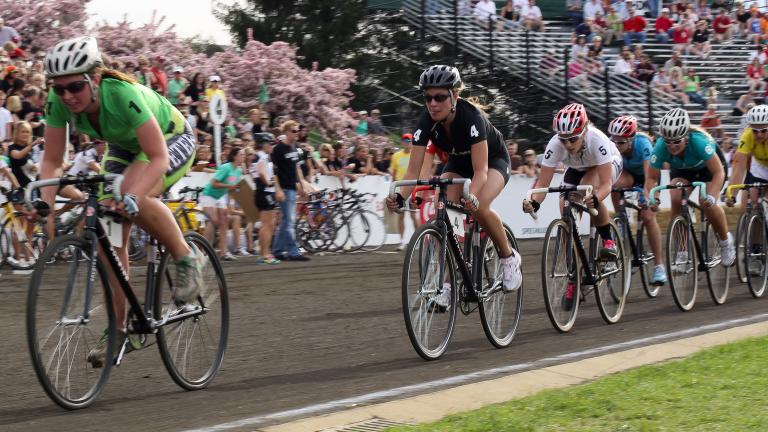 The women's Little 500 bike race on April 24, 2009. (Indiana Public Media / Flickr)