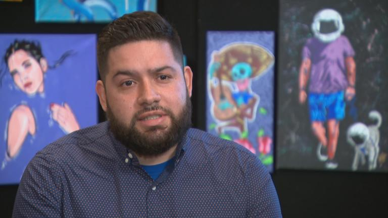 Chicago artist Armando Rios — aka Mr. Barbudos. (WTTW News)