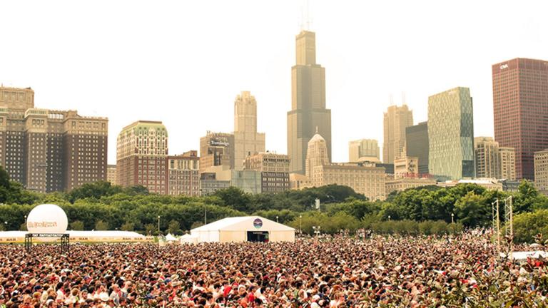 The crowd gathers to watch Foster the People at Lollapalooza 2011. (EMR / Flickr)
