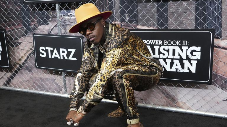 """DaBaby attends the world premiere of """"Power Book III: Raising Kanan"""" at the Hammerstein Ballroom on Thursday, July 15, 2021, in New York. (Photo by Charles Sykes / Invision / AP)"""