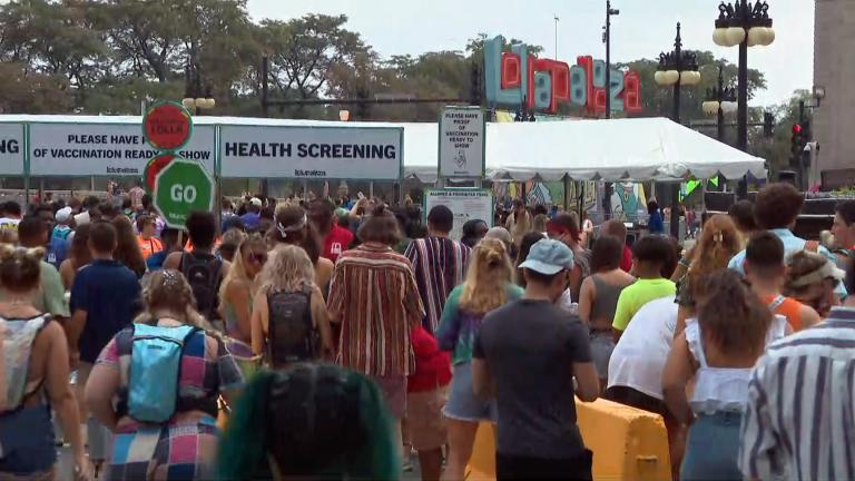 Fears spike that Lollapalooza will be a super-spreader event, with thousands of locals and tourists attending amid surging delta variant cases. (WTTW News)