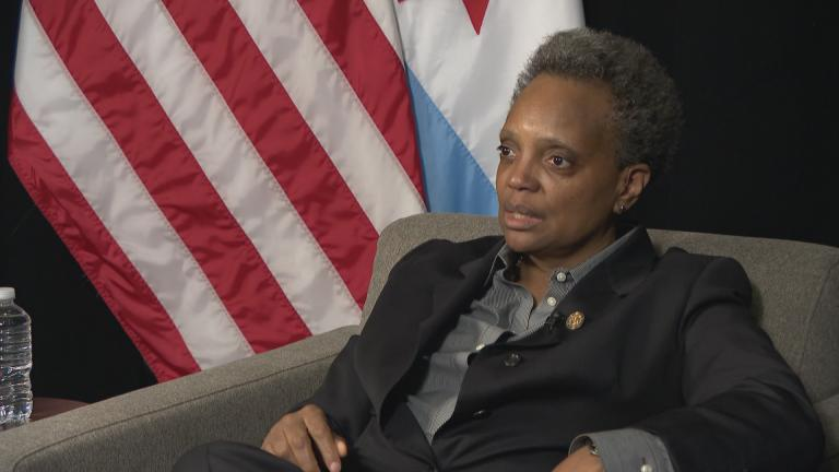 Mayor Lori Lightfoot speaks with WTTW News on Thursday, Feb. 20, 2020 after lobbying lawmakers in Springfield to approve a bill that would ease some of the taxes and fees for a Chicago casino.