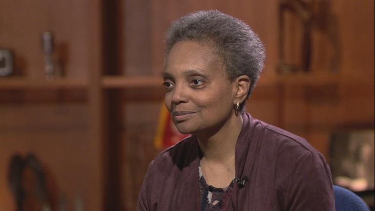 "Mayoral candidates Lori Lightfoot appears on ""Chicago Tonight"" on Feb. 27, 2019."