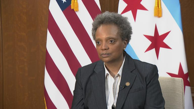 Mayor Lori Lightfoot speaks with WTTW News on May 19, 2020.