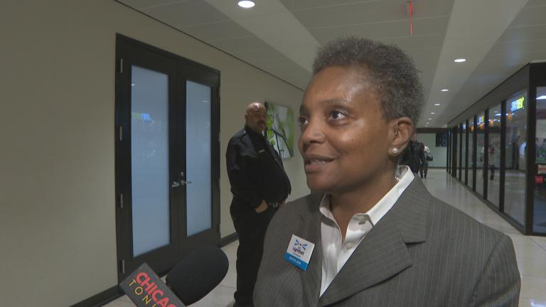 "In this file photo, Lori Lightfoot, then a candidate for Chicago mayor, speaks to ""Chicago Tonight"" on Monday, Dec. 17, 2018."