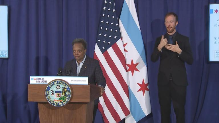 Mayor Lori Lightfoot announces new restrictions Thursday, Oct. 22, 2020 to curb the spread of the coronavirus. (WTTW News)