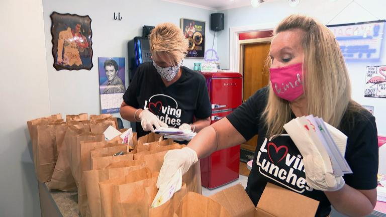 Every Sunday, Ann Marie Frank, along with family members and volunteers, packs up lunches for homeless individuals. (WTTW News)