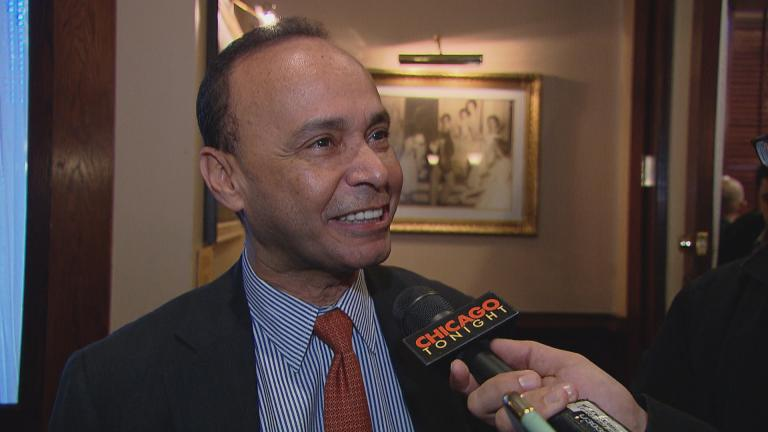 "U.S. Rep. Luis Gutierrez speaks to ""Chicago Tonight"" on Tuesday, Nov. 28."