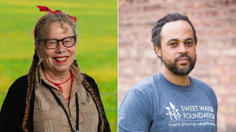 Lynda Barry and Emmanuel Pratt (Credit: John D. & Catherine T. MacArthur Foundation)