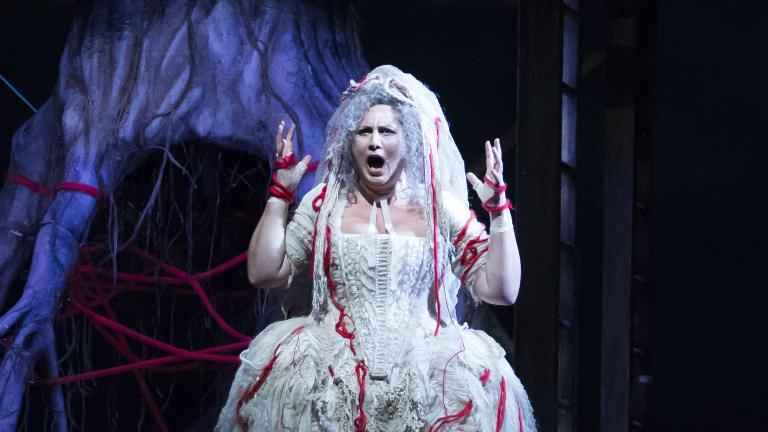 """Okka von der Damerau in """"Das Rheingold."""" (Courtesy of Lyric Opera of Chicago)"""