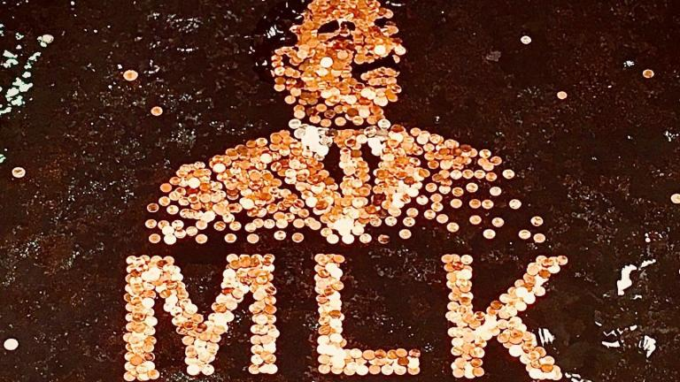 The Garfield Park Conservatory's 2020 Martin Luther King Jr. tribute. (Courtesy of Garfield Park Conservatory)