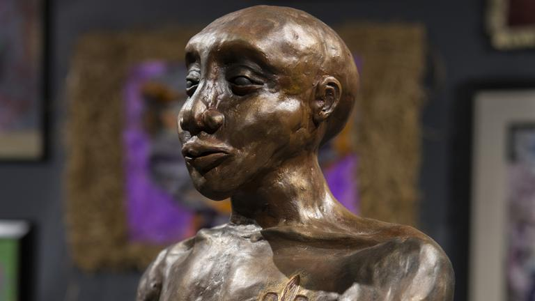 More than 100 works by African-American artists, including sculpture, are on display at Chicago's Museum of Science and Industry. (J.B. Spector / Museum of Science and Industry)