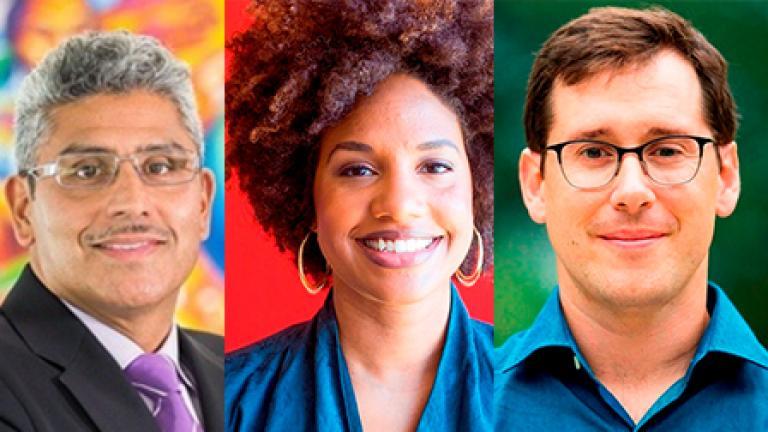 MacArthur fellows Juan Salgado, LaToya Ruby Frazier and John Novembre. Credit: John D. & Catherine T. MacArthur Foundation