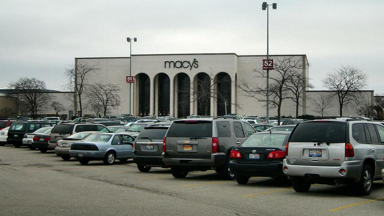 Macy's department store at Hawthorn Mall in Vernon Hills.