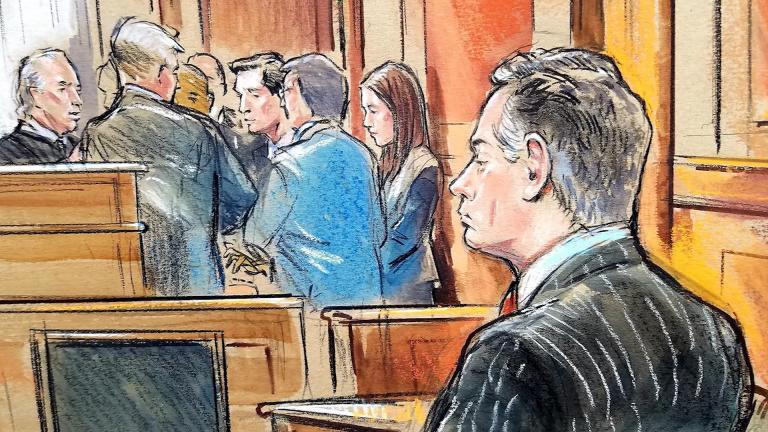 Courtroom sketch from the trial of Paul Manafort (CNN)