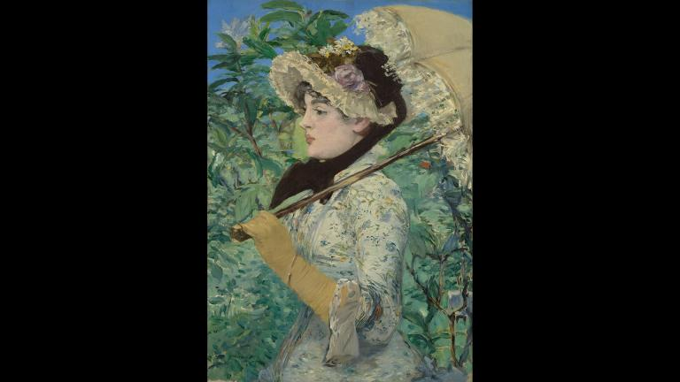 "Édouard Manet. ""Jeanne (Spring),"" 1881. The J. Paul Getty Museum, Los Angeles."