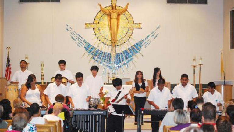 Courtesy of The Holy Cross/IHM Marimba Ensemble