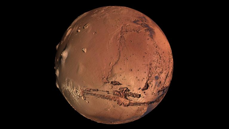 Mars visualization with satellite imagery overlay. (Kevin Gill / Flickr)