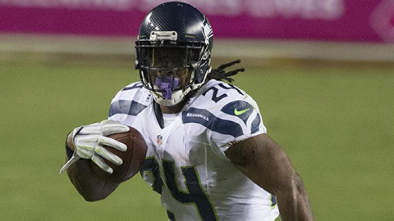Marshawn Lynch of the Seattle Seahawks