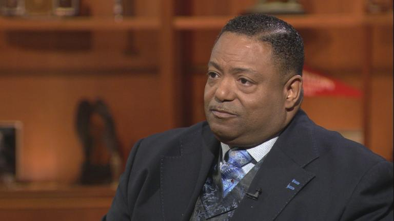 "The Rev. Marvin Hunter, Laquan McDonald's great-uncle, appears on ""Chicago Tonight."""