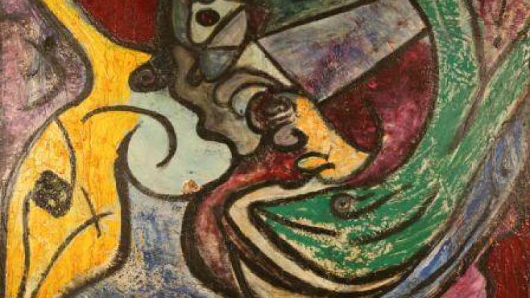 Untitled, mixed media on canvas, 1994, Artist Matt Lamb