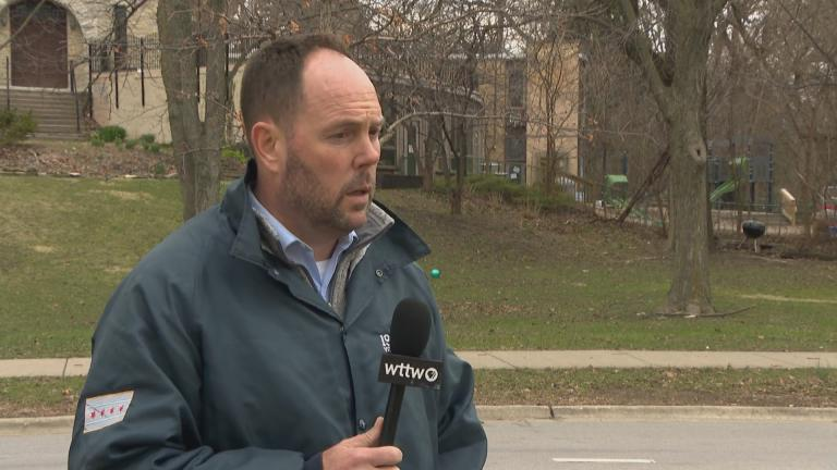 Ald. Matt O'Shea speaks with WTTW News on Monday, March 30, 2020.