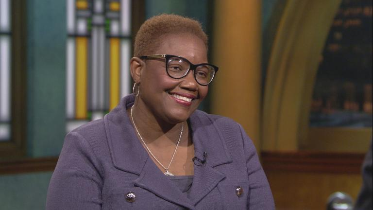 "Gary Mayor Karen Freeman-Wilson appears on ""Chicago Tonight"" on Aug. 28, 2019."