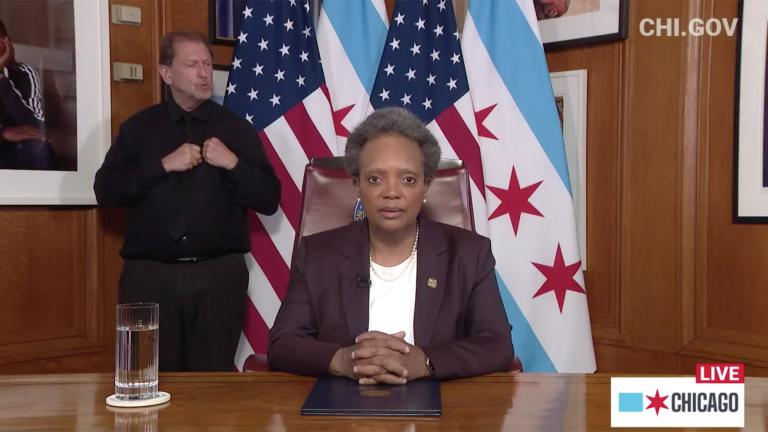"A screenshot from Mayor Lori Lightfoot's ""State of the City"" address on Tuesday, June 2, 2020. (Chicago Mayor's Office / Facebook)"