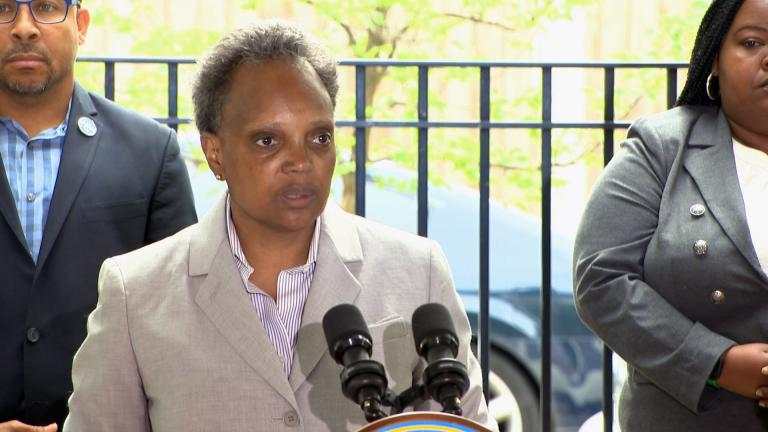 Mayor Lori Lightfoot addresses weekend violence in Chicago at an unrelated news conference Monday, June 28, 2021. (WTTW News)